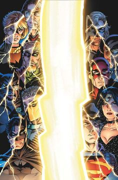 DC Heroes (DC Universe: Last Will And Testament #1). Art by Adam Kubert (2008)