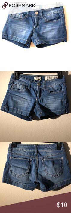Indigo rein jean shorts size 0 Jean shorts from indigo rein size 0 . Great condition. No longer fits me Indigo Rein Shorts Jean Shorts
