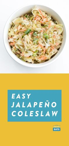 Bringing a little Tex-Mex influence to coleslaw, this dressing gets its bold flavor from lime juice, jalapeño, cilantro, and cumin. Healthy Comfort Food, Healthy Cooking, Cooking Recipes, Healthy Eats, Jalapeno Coleslaw, Coleslaw Recipes, Jalapeno Recipes, Tex Mex, Mexican Food Recipes