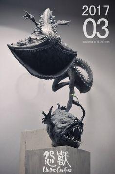 埋め込み Alien Concept Art, Creature Concept Art, Creature Design, Horror Monsters, Sea Monsters, Deep Sea Creatures, Fantasy Monster, Monster Design, Aliens