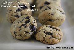 Maple-Walnut Dark Chocolate Chunk Cookies Recipe on Yummly. @yummly #recipe