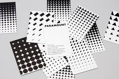 • Paramount hotel identity - The identity consists of a number of  rising patterns made-up of shapes that relate to elements in the  architecture of the building and the idea of height.