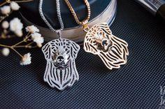 Golden retriever necklace pendant golden от ArtDogJewelry на Etsy