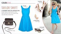 ideeli Ladylike trend board featuring Taylor Swift
