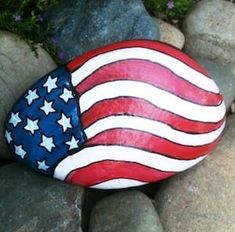 Get creative with these DIY painted rocks. From mandala rocks to easy painted rock crafts for kids, there are plenty of ideas for inspiration. Flag Painting, Pebble Painting, Pebble Art, Stone Painting, Diy Painting, Rock Painting Patterns, Rock Painting Ideas Easy, Rock Painting Designs, Paint Designs