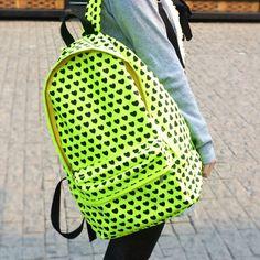 Fluorescence Color Print Backpack