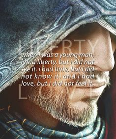 Ezio Auditore da Firenze he's the man. The coolest Italian ever Gamify Your Life, Assassins Creed Quotes, Assassin's Creed, Fangirl, Video Games, Feelings, My Love, Bryan Fury, Nerdy