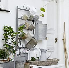 Wall Mounted Storage Rack - potting shed essentials