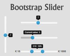 Bootstrap-Slider : jQuery Bootstrap Range Slider - http://jqueryplugins.net/bootstrap-slider-plugin/ #Bootstrap, #BootstrapSlider, #JQuery, #Range, #Slider