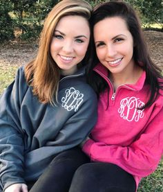 NEW colors in our favorite monogrammed quarter zips!