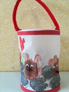 Lanterns with mouse - tinkering - Tiere Basteln - Diy For Kids, Crafts For Kids, Diy Crafts, Lantern Crafts, Kindergarten Portfolio, Leo Lionni, Origami, Lanterns, Activities For Kids