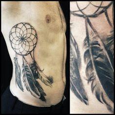 Traumfänger Hüfte Tattoo Mann