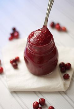 Serve on your favorite GF toast, muffin, etc. Easy Cranberry Butter via The Baker Chick