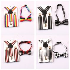 Baby and kids elastic Y clip suspenders with matching bow tie. Range of colours. $2.12 from Aliexpress