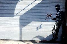 Es war ein buntes Programm mit Graffitis, ...