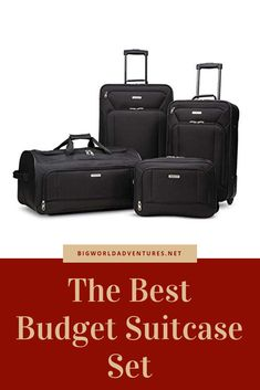 THE BEST BUDGET SUITCASE SET UNDER $80.00!!! RECOMMENDED AND PRESENTED BY BIGWORLDADVENTURES.NET States In America, United States, Travel Guides, Travel Tips, Suitcase Set, Tight Budget, Best Budget, Program Design, Cali