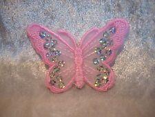 Schmetterling rosa 8 cm Aufnäher Aufbügler Patch Deko Neu GST 190746