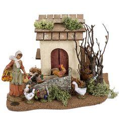 Christmas Nativity Scene, Nativity Scenes, Christmas Ideas, Fontanini Nativity, Nativity Crafts, Ceramic Houses, Art Dolls, Garden Sculpture, Ceramics