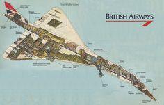 British Airways Concorde cutaway