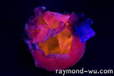 3 colored calcite fluorite fluorescent combo[OC][6000x4000]