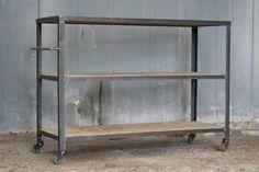 Industriele sidetable - trolley - kast - dressoir op wielen Berg-Berg