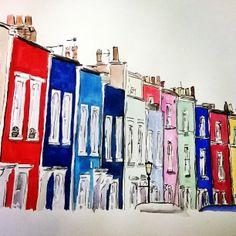 water colour houses, bristol Lauren Fellows