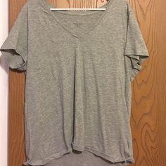 Plain grey v neck Plain Merona grey v neck Merona Tops Tees - Long Sleeve