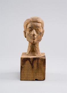 Alberto Giacometti, Head of a Woman [Rita], circa 1935 Wood enhanced with pencil, 17,6 x 7 x 8,6 cm Fondation Alberto et Annette Giacometti, Paris, inv. 1994-0456