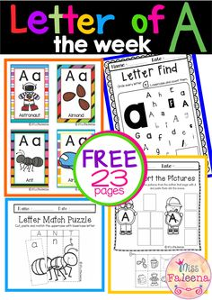 Free Letter of the Week A is designed to help teach letter A for children who are learning their letters. You can use as a class time worksheet or homework. Preschool | Preschool Worksheets | Kindergarten | Kindergarten Worksheets | First Grade | First Grade Worksheets | Alphabet | Alphabet Letter of the Week | Phonics | Reading | Alphabet Letter A | Word Literacy Centers | Printables| Worksheets| Free Lessons