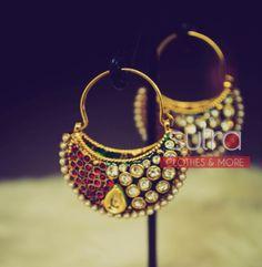 Kundan & Meenakari bucket earrings  http://on.fb.me/1j7U3eX