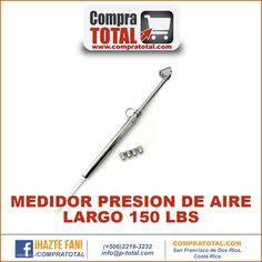 #CompraTotal - #HerramientaManualCostaRica MEDIDOR PRESION DE AIRE LARGO 150 LBS