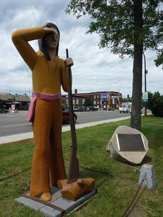 Chief Bemidji by lirena, via Flickr Bemidji Minnesota, California Coast, Public Art, Road Trips, Roots, Larger, Cities, Two Piece Skirt Set, Nice