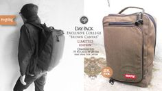 """New Article : #nvgtrBag #2014  """" Exclusive College """" - Brown Canvas. IDR 190K SMS/WhatsApp/Line : 08562101653."""