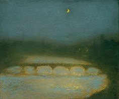Richard Cartwright | Ричард Картрайт (род.1951) Nocturne in Blue and Gold | Ноктюрн в синем и золотом