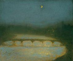 Richard Cartwright | Ричард Картрайт (род.1951) Nocturne in Blue and Gold | Ноктюрн в синем и золотом