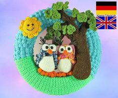 Ravelry: Door wreath - Owls in love pattern by Kuema Tutorials