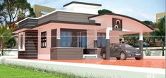 1097 SQ FT MODERN HOME DESIGNS – Kerala Home Design Kerala House Design, Modern House Design, Kerala Houses, House Layouts, Ground Floor, House Plans, Mansions, Contemporary, Interior Design