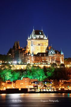 "Chateau Frontenac, Quebec City - We stayed here with our children. They were amazed by the ""castle""! Places Around The World, Oh The Places You'll Go, Places To Travel, Places To Visit, Old Quebec, Quebec City, O Canada, Canada Travel, Canada Trip"