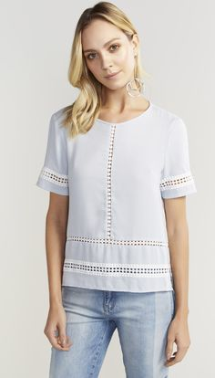 BLUSA T SHIRT PLANO - Shoulder
