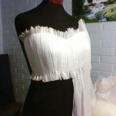 Drapeado strapless de novia