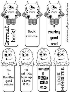 Free Printable Bookmarks To Color | ... bookmarks. Let your kids color them one their own and then laminate