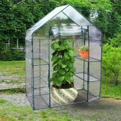 Outsunny Pop Up Mini Greenhouse Plant Cover 2 Pack By 640 x 480