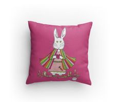 """""""A bunny named Tulip!"""" New pillows in time for spring! Bunny Names, Tulip, Etsy Seller, Throw Pillows, Spring, Creative, Gift, Shop, Bunnies"""