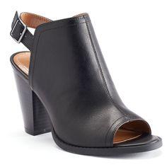 Peep-toe bootie from Lauren Conrad's Kohl's collection.