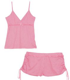 pijamas de mujer cortas - Buscar con Google Cute Pajama Sets, Cute Pjs, Cute Pajamas, Pink Lingerie, Lingerie Sleepwear, Nightwear, Lounge Outfit, Lounge Wear, Ropa Interior Babydoll