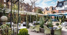 The Ivy Chelsea Garden is a casual British restaurant serving an extensive all-day menu of food and cocktails