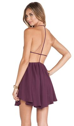 Lovers + Friends Jhene Aiko for Lovers and Friends Get Out Dress in Dark Purple | REVOLVE