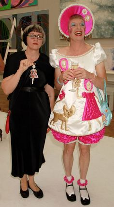 """Grayson Perry on cross dressing and happiness as """"Britain's pre-eminent transvestite"""" Queer Fashion, Dark Fashion, Girly Things, Girly Stuff, Random Things, Random Stuff, Grayson Perry Art, English Artists, Thrift Fashion"""