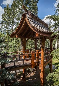 Pagoda-style gazebo near Telluride in Mountain Village, Colorado Places Around The World, Around The Worlds, Beautiful Homes, Beautiful Places, Mountain Village, Outdoor Travel, Architecture, The Good Place, Gazebo