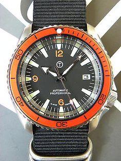 Mod / Seiko SKX007 mod Planet Ocean orange. Yobokies, OSC - parts.
